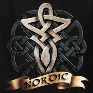 Black tribal_knot_viking_c Kids' Shirts - Kids' T-Shirt