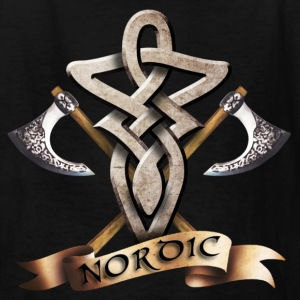 Black tribal_knot_viking_d Kids' Shirts - Kids' T-Shirt