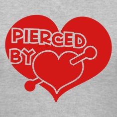 pierced by love  Women's T-Shirts