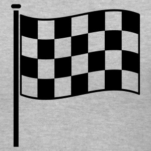 checkered flag RACING motor sport Women's T-Shirts - Women's V-Neck T-Shirt