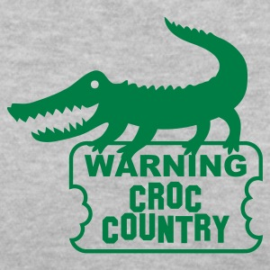 aligator crocodile warning croc Women's T-Shirts - Women's V-Neck T-Shirt