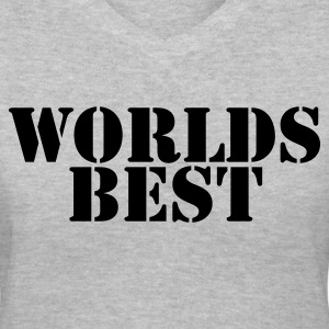 Gray worlds best present gift for someone special Women's T-Shirts - Women's V-Neck T-Shirt