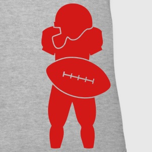 Gray All American football uniform with ball and helmet Women's T-Shirts - Women's V-Neck T-Shirt