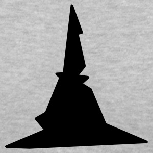Gray witches hat witch wizard Women's T-Shirts - Women's V-Neck T-Shirt