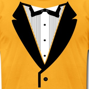 Gold Tuxedo - Men's T-Shirt by American Apparel