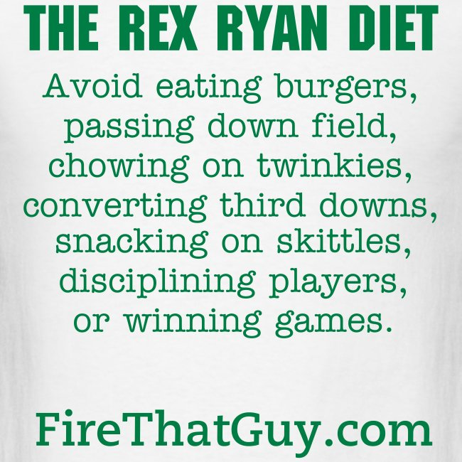 THE REX RYAN DIET