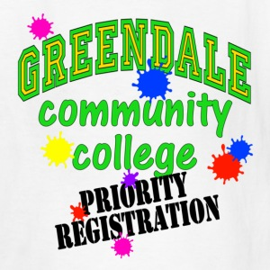 White Greendale Community College Priority Registration Kids' Shirts - Kids' T-Shirt