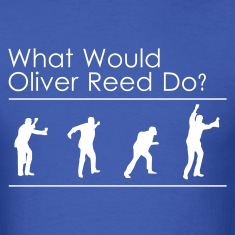 Royal blue What would Oliver Reed do? T-Shirts