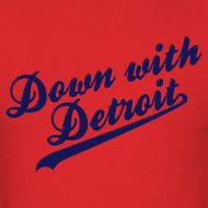Design ~ Down with Detroit Men's Standard Weight T-Shirt
