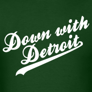 Design ~ Down with Detroit Men's Standard Weight T-Shirt