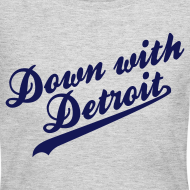Design ~ Down with Detroit Women's Long Sleeve Jersey Tee