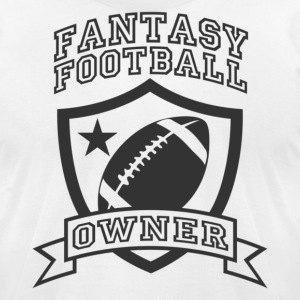 White fantasy football owner T-Shirts - Men's T-Shirt by American Apparel