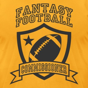 Gold fantasy football commissioner T-Shirts - Men's T-Shirt by American Apparel