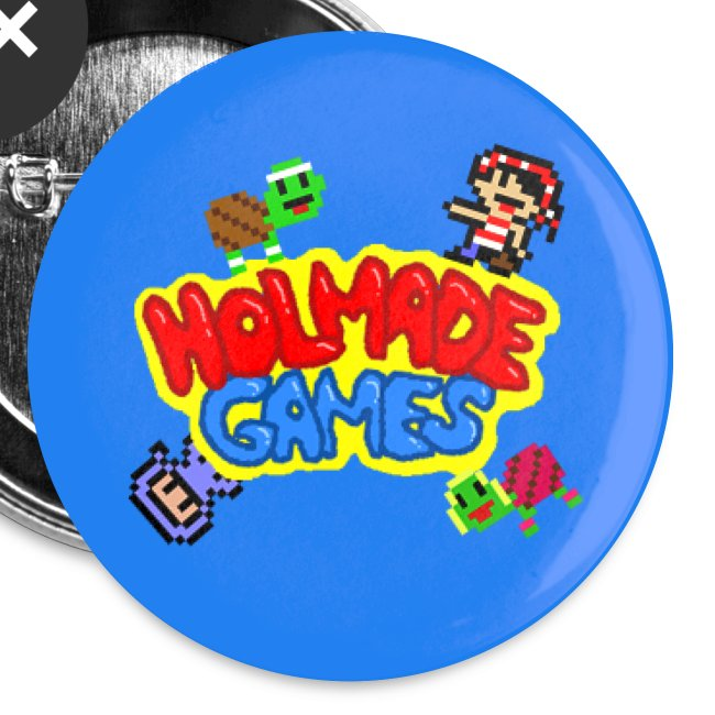 Holmade Games Logo Buttons (Large)