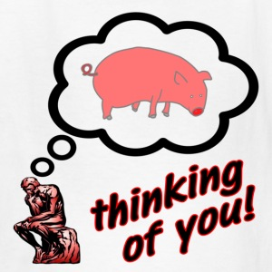 White Thinking of You Pig Insult Kids' Shirts - Kids' T-Shirt
