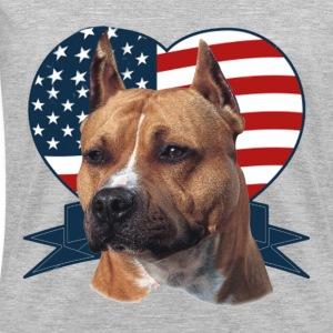 Patriotic Pitbull - Women's V-Neck T-Shirt