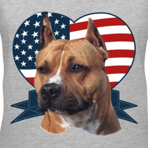 Patriotic Pitbull - Women's V-Neck T-Shirt