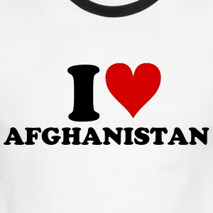 I [heart] Afghanistan - Men's Ringer T-Shirt