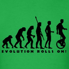 Bright green evolution_einradfahrer_1c_b T-Shirts