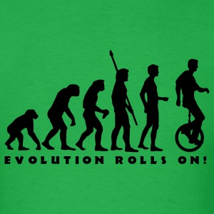 Bright green evolution_einradfahrer_1c_b T-Shirts - Men's T-Shirt