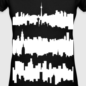 Skylines (W) - Women's V-Neck T-Shirt