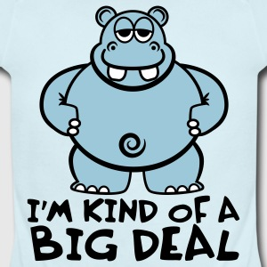 Sky blue Hippo Shirt - I'm Kind of a Big Deal Baby Body - Short Sleeve Baby Bodysuit