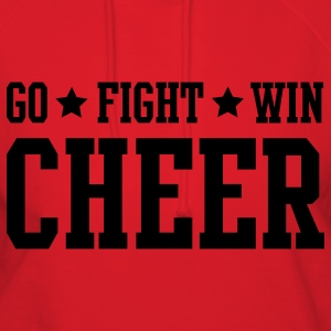 Red cheer go fight win stars Hoodies - Women's Hoodie