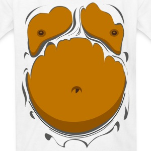 Comic Fat Belly, beer gut, beer belly, chest t-shi - Kids' T-Shirt