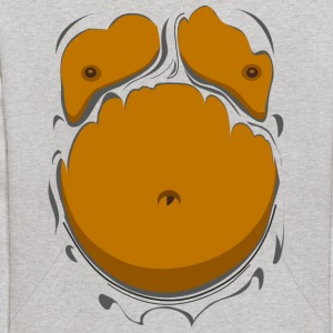 Comic Fat Belly, beer gut, beer belly, chest t-shi - Kids' Hoodie