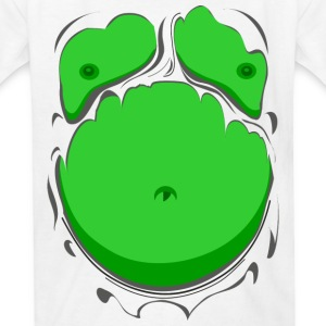 Comic Fat Belly Green, beer gut, beer belly, chest - Kids' T-Shirt