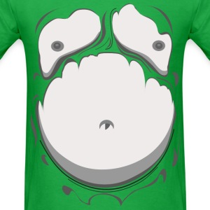 Comic Fat Belly Monotone, beer gut, beer belly, ch - Men's T-Shirt