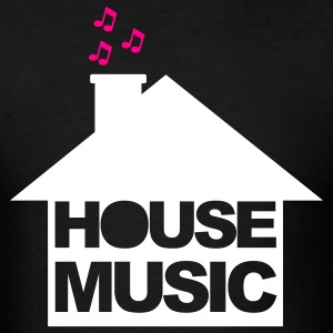Black House Music T-Shirts - Men's T-Shirt
