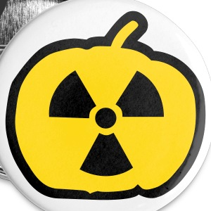 White Halloween radioactive Buttons - Large Buttons