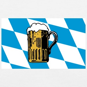Bavarian Flag Oktoberfest - Women's V-Neck T-Shirt