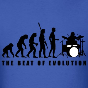 Royal blue evolution_drummer_c_2c T-Shirts - Men's T-Shirt