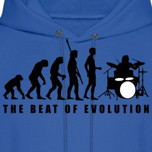 Royal blue evolution_drummer_c_2c Hoodies - Men's Hoodie