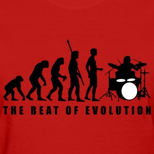 Red evolution_drummer_c_2c Women's T-Shirts - Women's T-Shirt