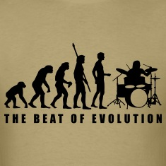 Khaki evolution_drummer_c_1c T-Shirts