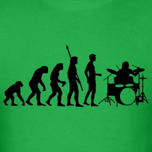 Bright green evolution_drummer_b_1c T-Shirts - Men's T-Shirt