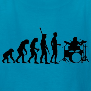 Orange evolution_drummer_b_1c Kids' Shirts - Kids' T-Shirt