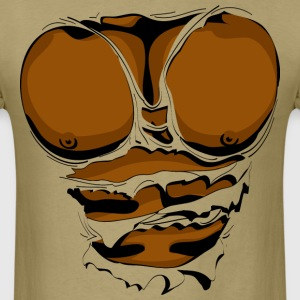 Ripped Muscles, six pack, chest T-shirt - Men's T-Shirt