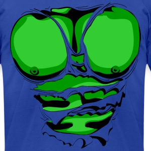 Ripped Muscles Green, six pack, chest T-shirt - Men's T-Shirt by American Apparel
