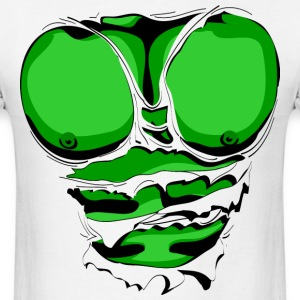 Ripped Muscles Green, six pack, chest T-shirt - Men's T-Shirt