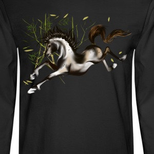 Running Horse-plain - Men's Long Sleeve T-Shirt