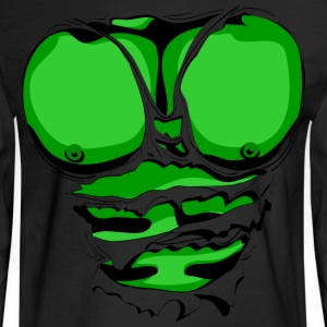 Ripped Muscles Green, six pack, chest T-shirt - Men's Long Sleeve T-Shirt