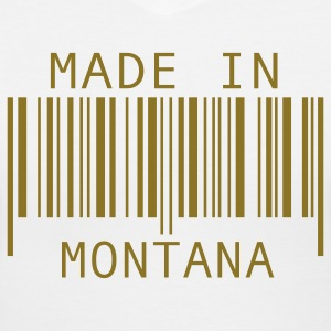 White Made in Montana Women's T-Shirts - Women's V-Neck T-Shirt