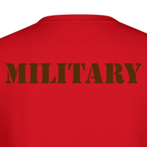 MILITARY in stencil Long Sleeve Shirts - Crewneck Sweatshirt