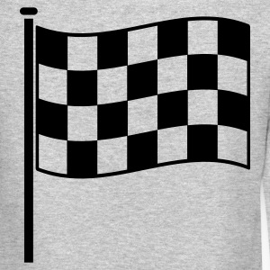 checkered flag RACING motor sport Long Sleeve Shirts - Crewneck Sweatshirt