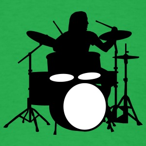 Bright green drummer_b_2c T-Shirts - Men's T-Shirt