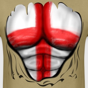 England Flag Ripped Muscles, six pack, chest t-shirt - Men's T-Shirt